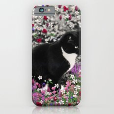 Freckles in Flowers II - Tuxedo Kitty Cat iPhone 6s Slim Case