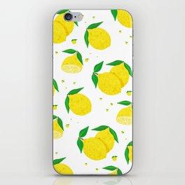 Big Lemon pattern iPhone Skin