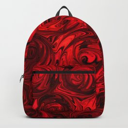 Red Apple Roses Abstract Backpack