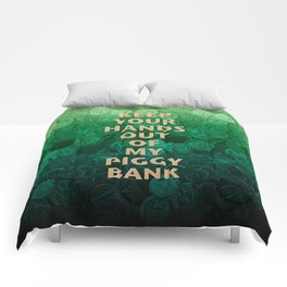Private Property Piggy Bank Comforters