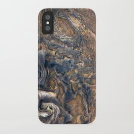 Swirling Clouds of Planet Jupiter Close Up from Juno Cam iPhone Case