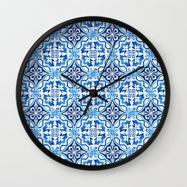 Portuguese Tile Wall Clock