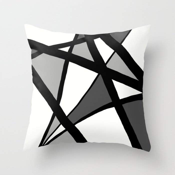 Black and White Triangle Pattern Pillow For Sofa
