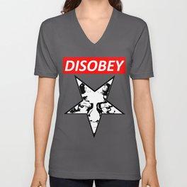 Disobey - Original Logo (Biggie) Unisex V-Neck
