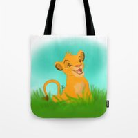 simba Tote Bags featuring Simba by Rachelmel1
