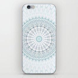 Teal Aqua Mandala iPhone Skin