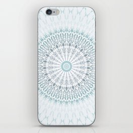 Teal Aqua Mandala iPhone Skin