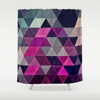 spires Shower Curtains featuring hylyoxrype by Spires