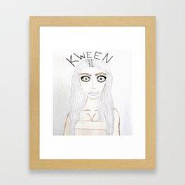 Kim K is Kween Framed Art Print