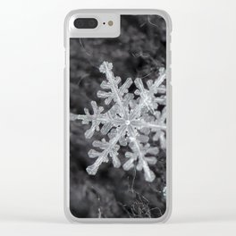 Snowflake Closeup #1 Clear iPhone Case
