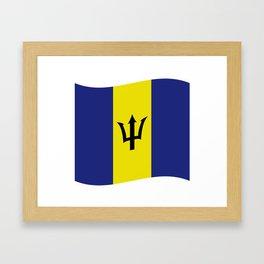 barbados flag Framed Art Print