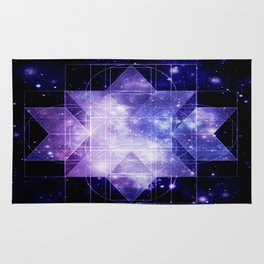 galaxy sacred Geometry Rug