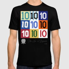 The No. 10 Legends Mens Fitted Tee MEDIUM Black