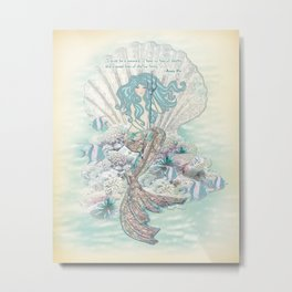 Anais Nin Mermaid [vintage inspired] Art Print Metal Print