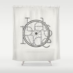 Let´s Ride Shower Curtain