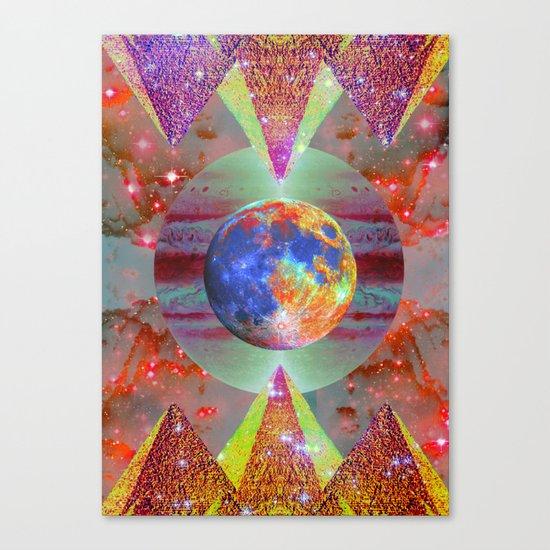 ☪elestial Pyramids Canvas Print