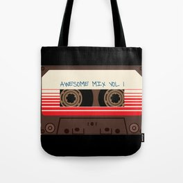 awesome mix vol 1 new hot 2018 CD love cute sticker cover iphone pattern casate art support design Tote Bag