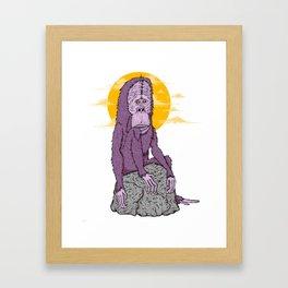 Nostalgic monkey big Foot Framed Art Print