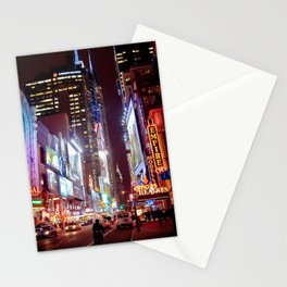 West 42nd Street, New York, New York Stationery Cards