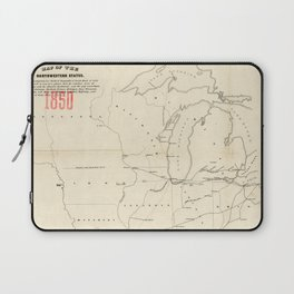 Railroad & The Northwestern States in 1850 Laptop Sleeve
