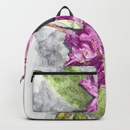Moody Summer Floral Watercolour Backpack