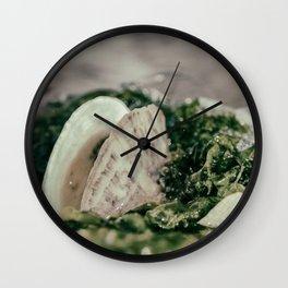 Seaweed and Shells on the Beach Nature / Coastal Photograph Wall Clock