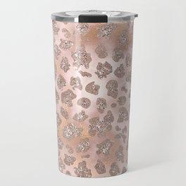 Rosegold Blush Tiger Glitter Travel Mug