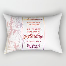 i could tell you my adventures...  Rectangular Pillow
