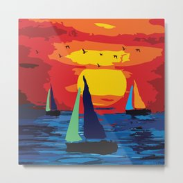 Sailing  for Peace Metal Print