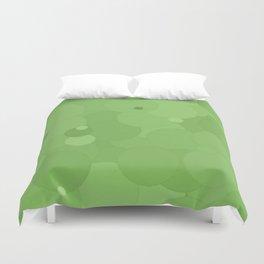 Green Tea Bubble Dot Color Accent Duvet Cover