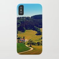 hiking iPhone & iPod Cases featuring Hiking through springtime scenery by Patrick Jobst