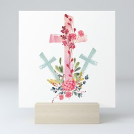 calvary floral Mini Art Print