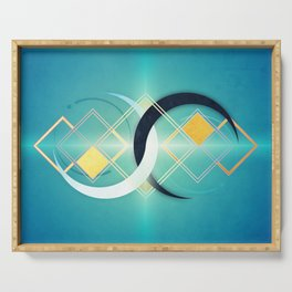 Crescent Moon Double :: Floating Geometry Serving Tray