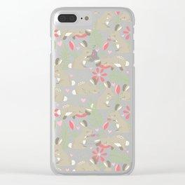 Bunny Garden Clear iPhone Case