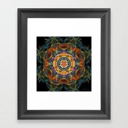 The Sri Yantra - Sacred Geometry Framed Art Print