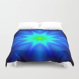 Star Bright Blue & green Duvet Cover