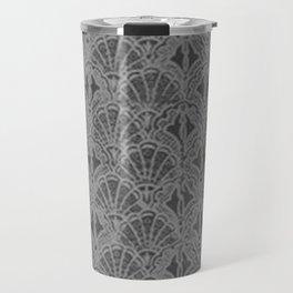 Vintage Seashells Pewter Gray Travel Mug