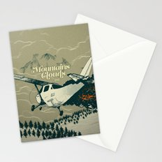 Mountains Hide in Clouds II - Tan Stationery Cards