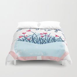 Send my love to you Duvet Cover