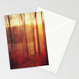 scarlet haze Stationery Cards