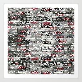 Ambulance Chaser (P/D3 Glitch Collage Studies) Art Print