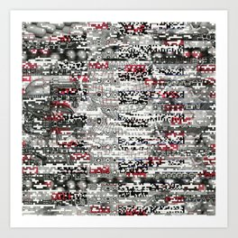 Ambulance Chaser (P/D3 Glitch Collage Studies) Art Print