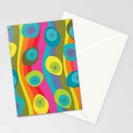 Groovy Retro Waves Stationery Cards