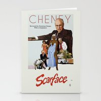 scarface Stationery Cards featuring Cheney Scarface by vipez