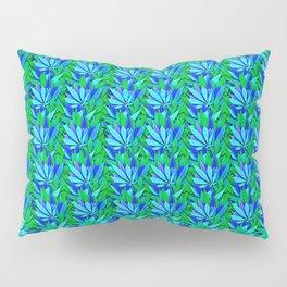 Cannabis Print Green and Blue Pillow Sham