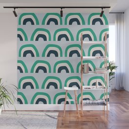 Abstract Playground Rainbow Wall Mural