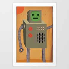 Awesome Robot! Art Print