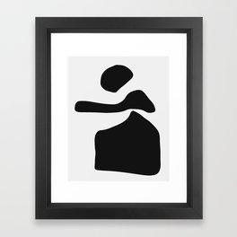 Posing Lady Framed Art Print