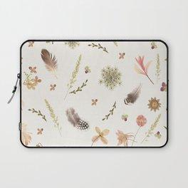 Feathers among Wildflowers Laptop Sleeve