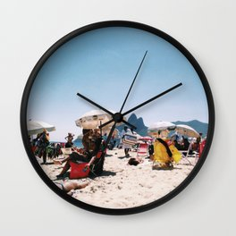 Ipanema beach in the middle of summer Wall Clock